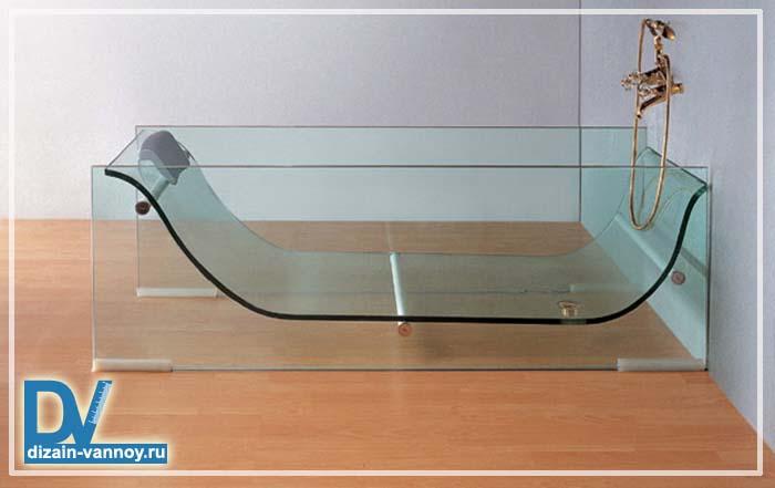 прозрачная ванна из оргстекла