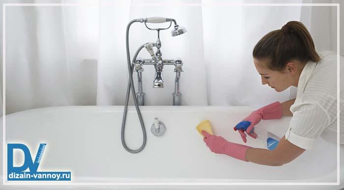 чистка ванны содой и уксусом