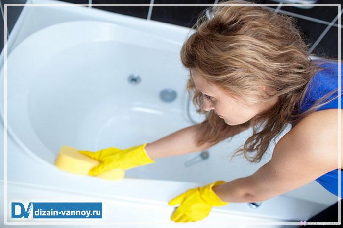 как почистить ванну от желтизны