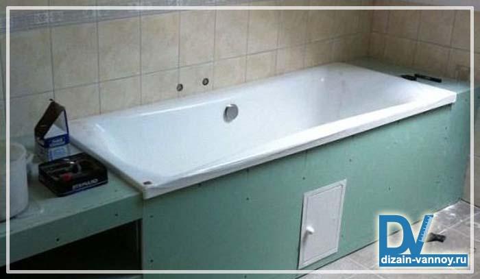 как делать короб в ванной