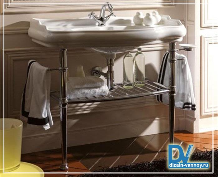 полка для раковины в ванной