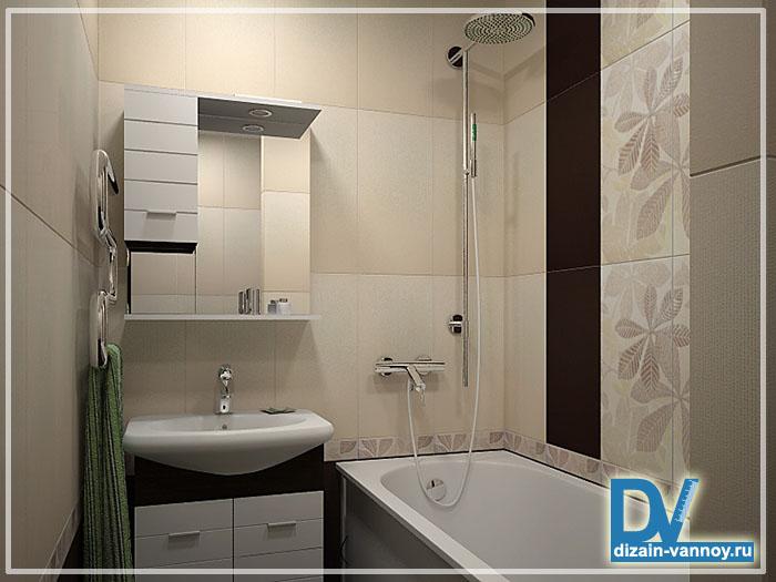 Дизайн маленькой ванной с душевой кабиной без унитаза 7 фото