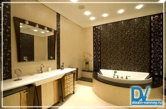 светодиодные светильники для ванной комнаты