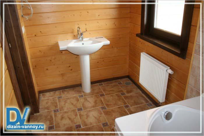 ванная в частном доме фото