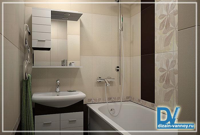 Дизайн ванной комнаты п 44