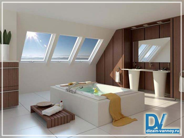 ванная комната в мансарде фото