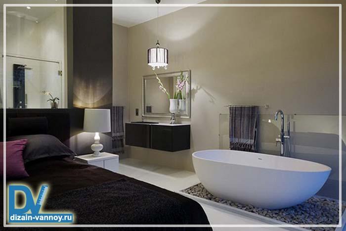 ванна в спальне фото
