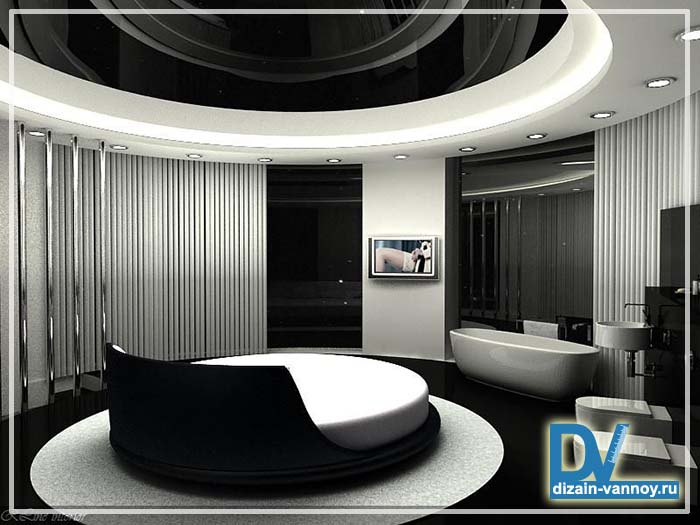 ванна в спальне дизайн