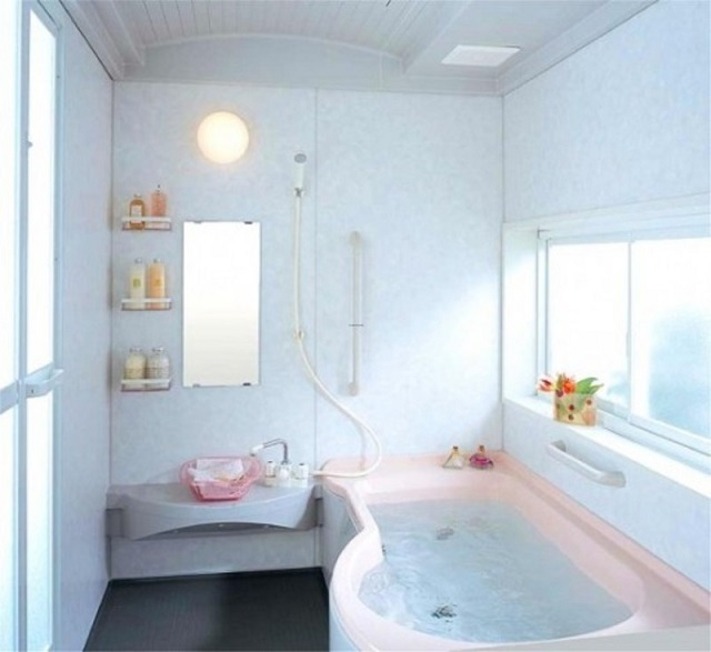 These modern and stylish small bathroom designs and layout must be install in your house since the designs look so nice and cute.