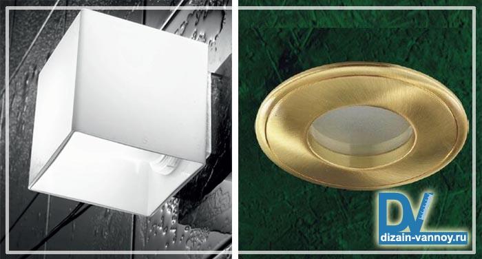 светильники влагозащищенные для ванных комнат