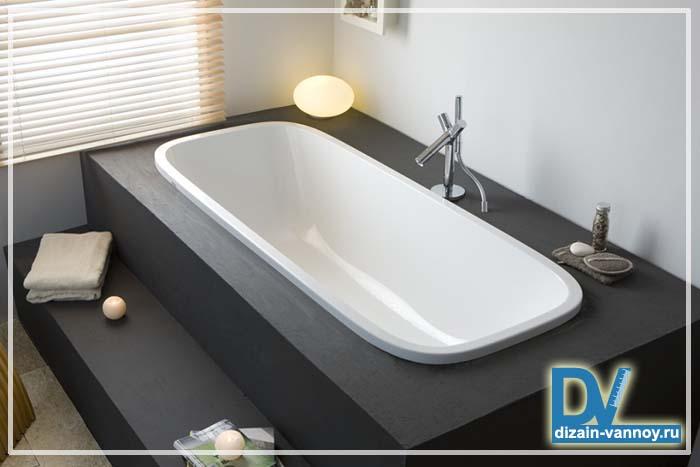 Дизайн ванн подиум