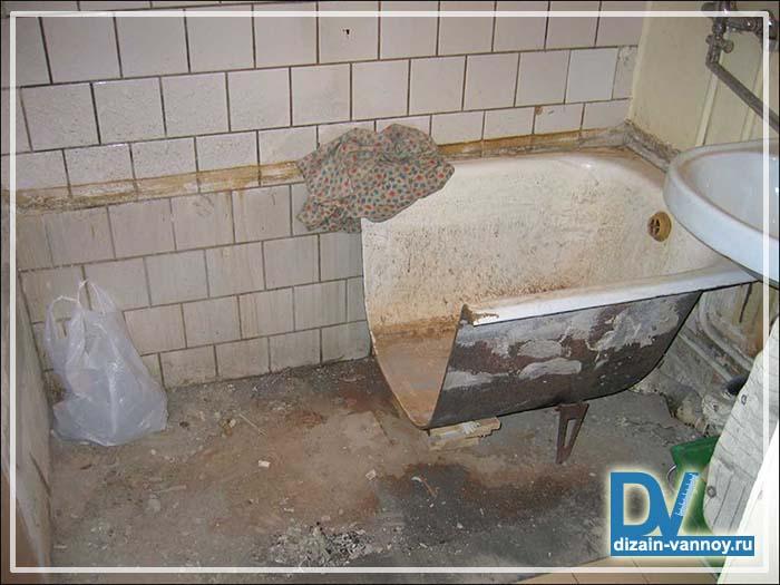 вывоз чугунной ванны