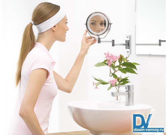 увеличивающее зеркало для ванной