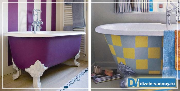 Чем покрасить чугунную ванну внутри в домашних условиях