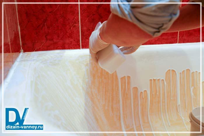Покрытие ванн акрилом своими руками