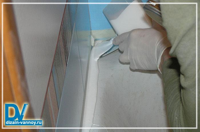 покрытие ванны жидким акрилом видео