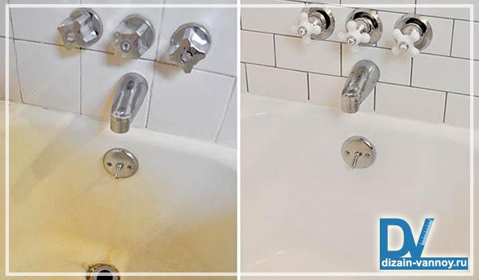 покрытие эмалью чугунных ванн