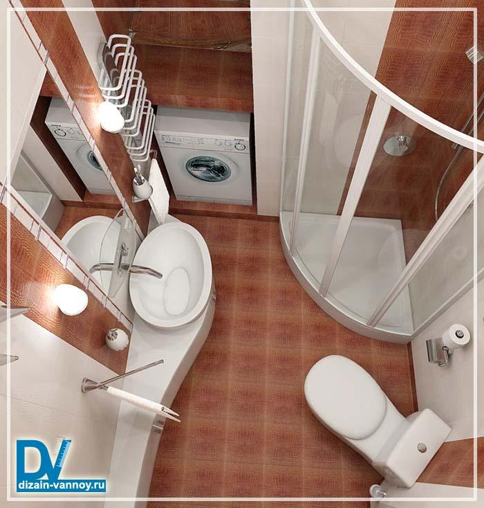 душевые кабины дизайн ванной комнаты