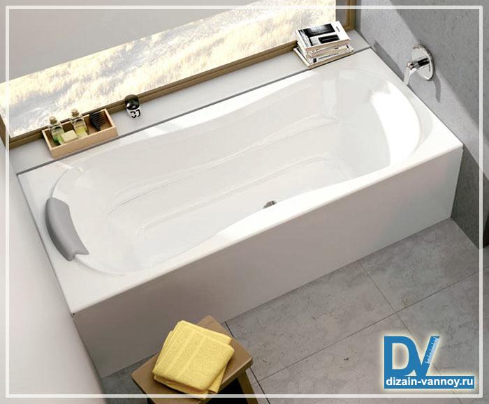 акриловая ванна со стеклянной шторкой