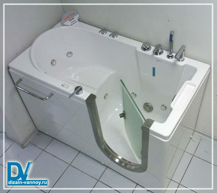 ванна сидячая угловая