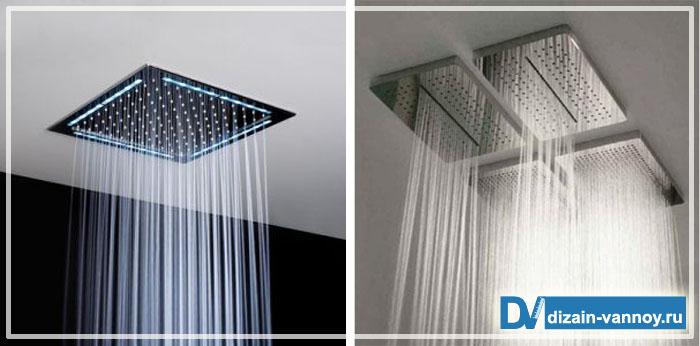 тропический душ в ванной
