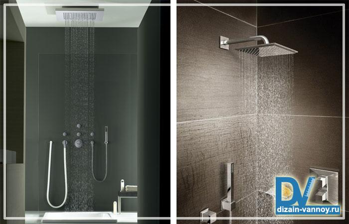 тропический душ в ванной фото