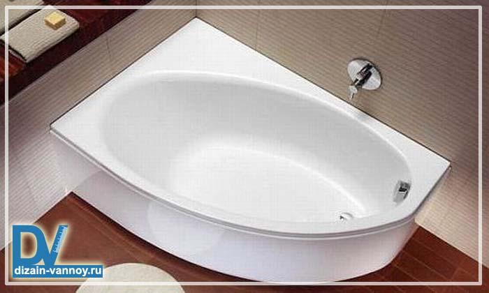 Акриловые угловые ассиметричные ванны