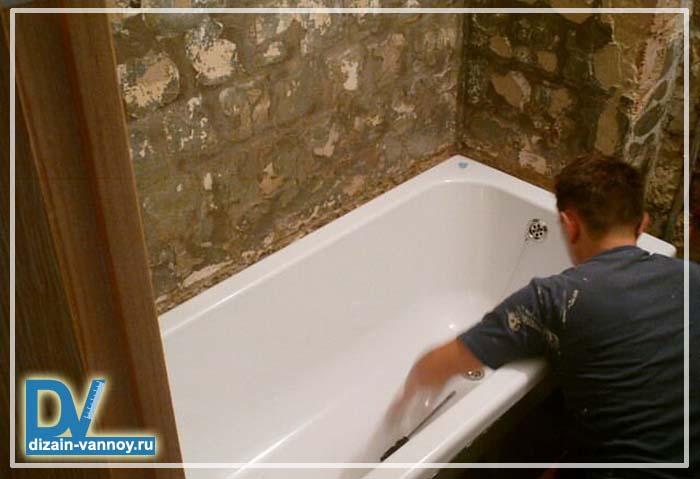 сколько стоит поставить ванну