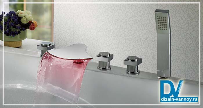 ванна с отверстием под смеситель
