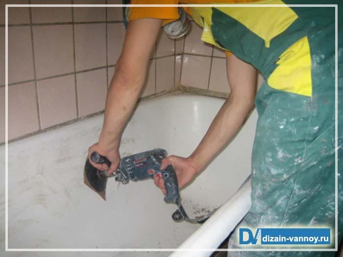 реставрация чугунной ванны