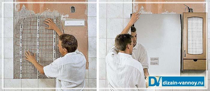 незапотевающее зеркало для ванной