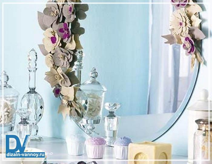 дизайн зеркала в ванной комнате