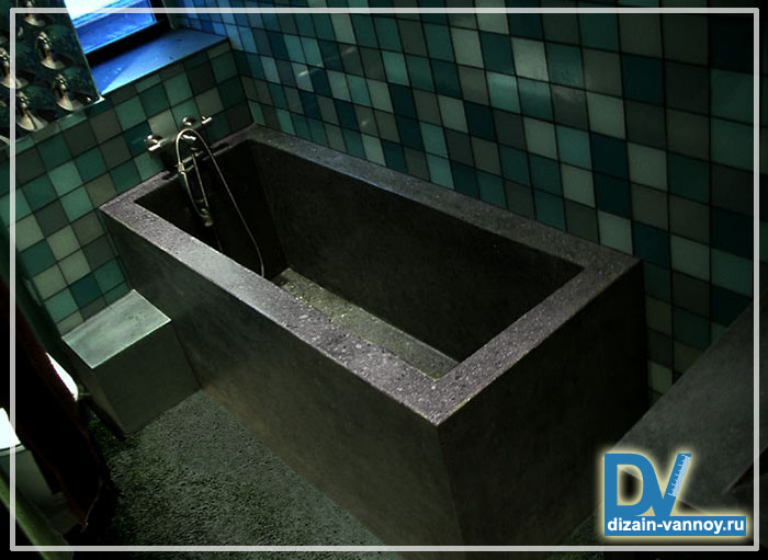 ванна своими руками из кирпича