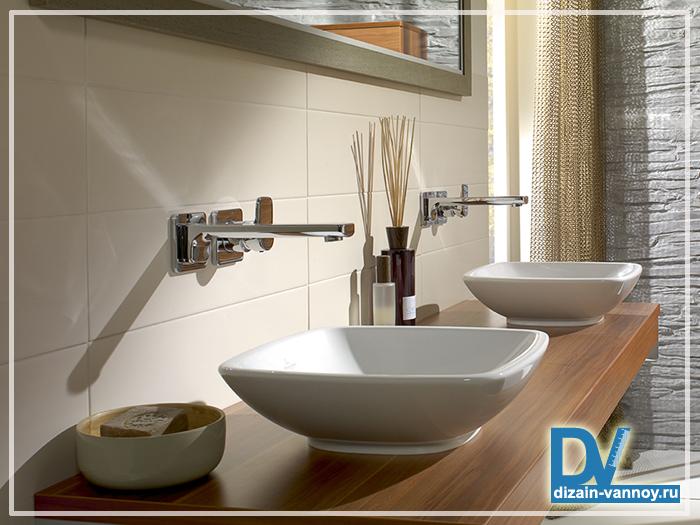 деревянные столешницы для ванной комнаты