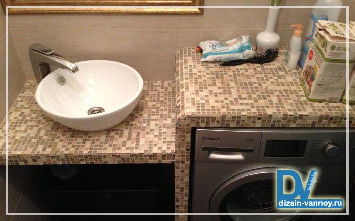 Столешница в ванной своими руками под мозайку плитка керамическая столешница