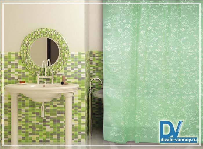 штора для ванной 3d