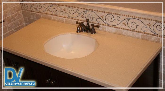 столешницы для раковины в ванную