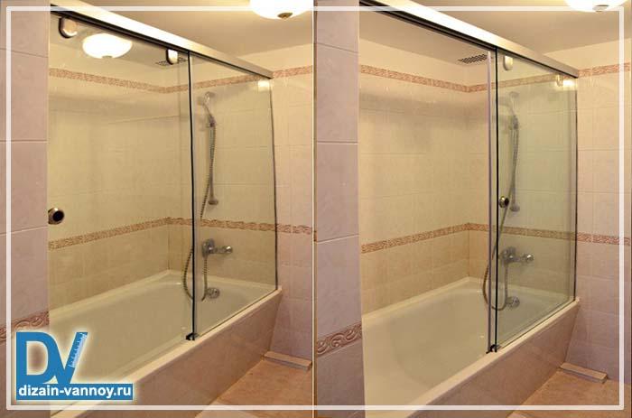 шторка для ванной стекло