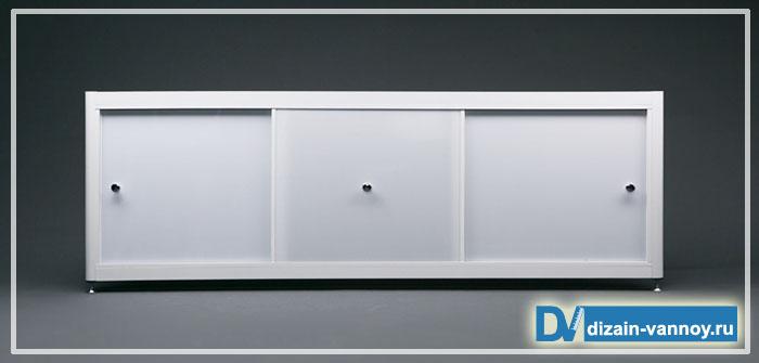 Экраны под ванну раздвижные
