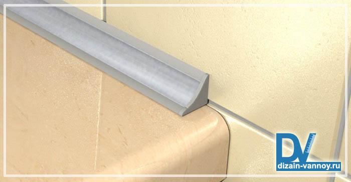 зазор между ванной и стеной