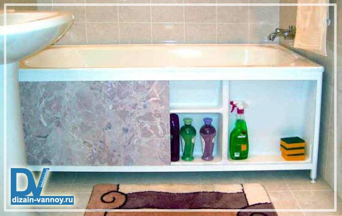 Как самим сделать экран для ванной из пластика