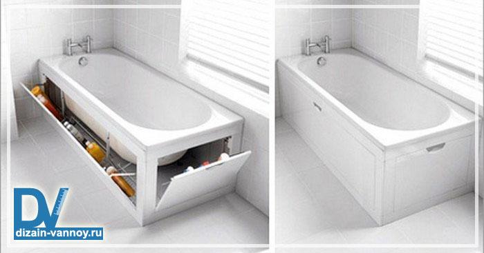 экран купе под ванну