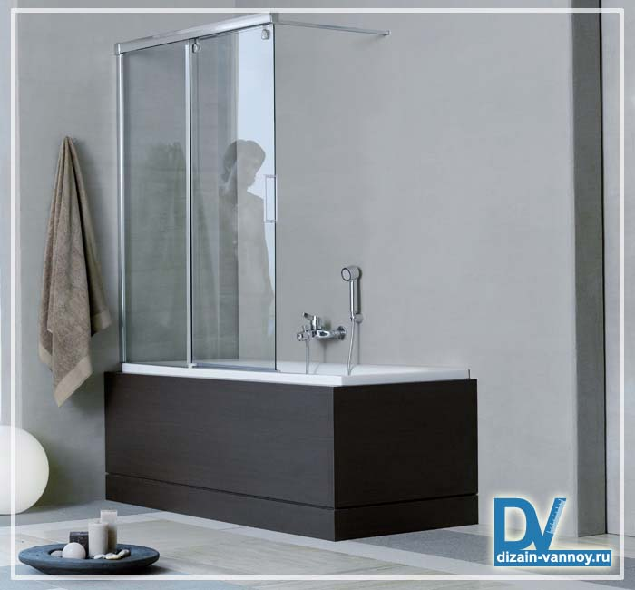 душевая шторка на ванну стекло