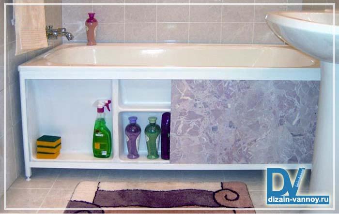 Как сделать пластиковый экран под ванну своими руками фото 11