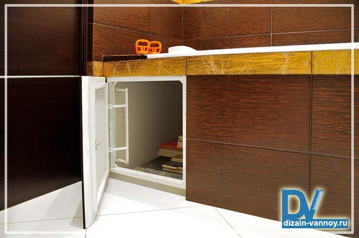 экран под ванну с дверцами