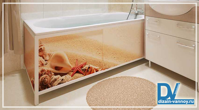 шторка под ванну своими руками