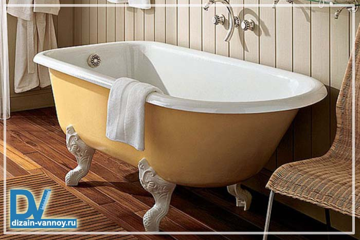 размеры чугунной ванной