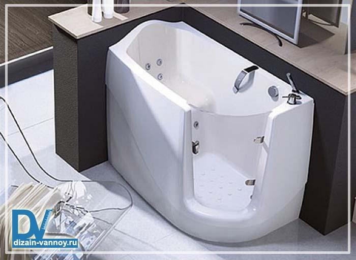 ванная сидячая размеры