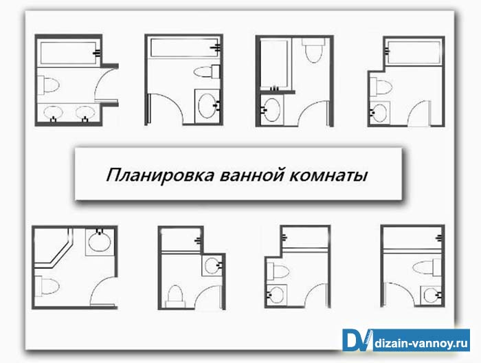 ванной комнаты размеры