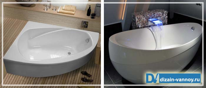 квадратные ванны размеры